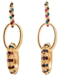 Charlotte Russe - Rhinestone Drop Earrings - Lyst