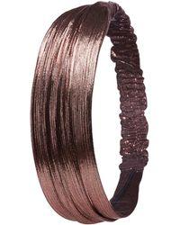 Charlotte Russe - Metallic Lurex Headband - Lyst