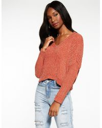 3498ecb4f8 Lyst - Old Navy Cable-knit Lace-up Sweater in Blue