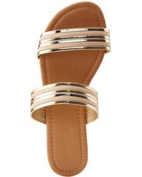 Charlotte Russe - Metallic Two-strap Slides - Lyst