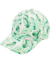 Charlotte Russe - Palm Print Baseball Hat - Lyst