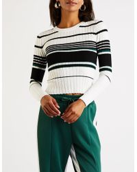 Charlotte Russe - Striped Ribbed Pullover Sweater - Lyst