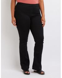 Charlotte Russe - Plus Size Cello Flare Pull On Jeans - Lyst