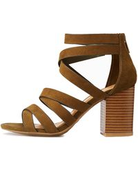 Charlotte Russe - Bamboo Strappy Caged Sandals - Lyst