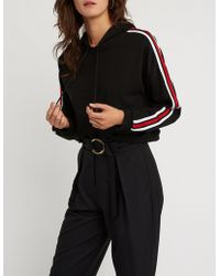 Charlotte Russe - Sporty Cropped Hoodie - Lyst