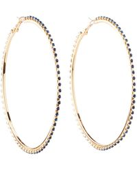 Charlotte Russe - Crystal Hoop Earrings - Lyst