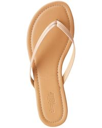 Charlotte Russe - Faux Leather Thong Sandals - Lyst