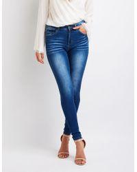 Charlotte Russe - High Waist Skinny Jeans - Lyst