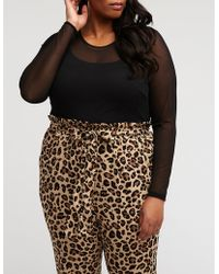 3c910748187 Lyst - Ashley Stewart Plus Size Bebe Sequin Top With Mesh in Black