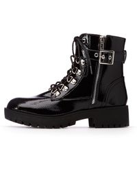 Charlotte Russe - Lace Up Combat Boots - Lyst