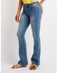 Charlotte Russe - Flared Jeans - Lyst