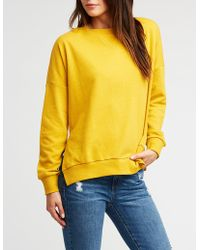 8ff71034af329 Lyst - Charlotte Russe Brooklyn Graphic Sweatshirt in Yellow