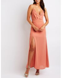 Charlotte Russe - Lace Open Back Maxi Dress - Lyst