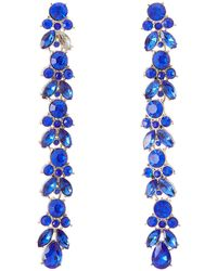 Charlotte Russe - Cascading Rhinestone Drop Earrings - Lyst