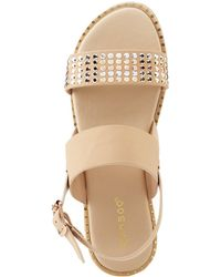 Charlotte Russe - Bamboo Studded Open Toe Sandals - Lyst