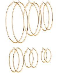 Charlotte Russe - Cascade Hoop Earrings - 6 Pack - Lyst