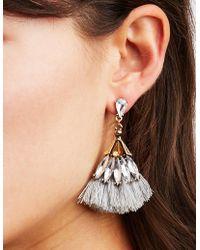 Charlotte Russe - Rhinestone & Tassel Earrings - 3 Pack - Lyst