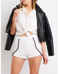 Charlotte Russe - Piping Cocktail Cheeky Shorts - Lyst