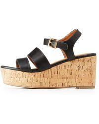 Charlotte Russe - Ankle Strap Platform Sandals - Lyst