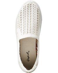 Charlotte Russe - Qupid Laser Cut Slip On Sneakers - Lyst