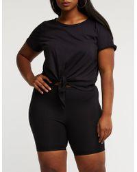 ea7f55a7a0d Charlotte Russe - Plus Size Biker Shorts - Lyst