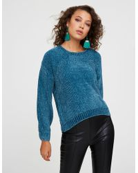 Charlotte Russe - Chenille Crew Neck Pullover Sweater - Lyst