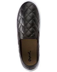 Charlotte Russe - Qupid Quilted Slip On Sneakers - Lyst