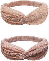 Charlotte Russe - Glitter Knot Headband - Lyst