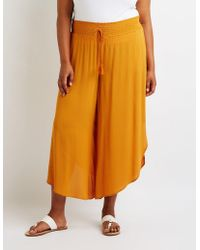 d15b36ce9313a Charlotte Russe - Plus Size Smocked Palazzo Pants - Lyst