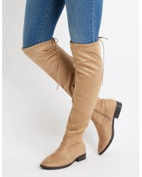 Charlotte Russe - Over The Knee Riding Boots - Lyst