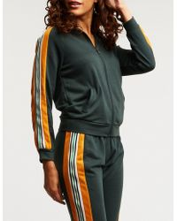 Charlotte Russe - Colorblock Zip Up Track Jacket - Lyst