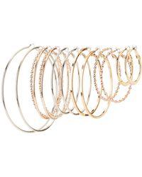 Charlotte Russe - Textured Hoop Earrings - 6 Pack - Lyst
