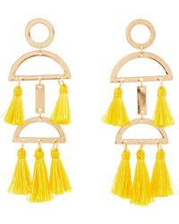 Charlotte Russe - Tassel Drop Earrings - Lyst