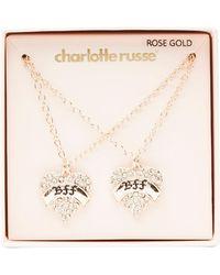 Charlotte Russe - Embellished Bff Pendant Necklace - 2 Packs - Lyst
