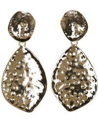 Charlotte Russe - Hammered Drop Earrings - Lyst