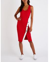 Charlotte Russe - Ribbed Bodycon Dress - Lyst