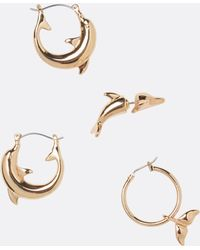Cheap Monday - Dolphin Earrings Set - Lyst