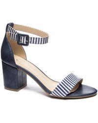 79038fdec50 Lyst - Chinese Laundry Jody Block Heel Sandal in Metallic