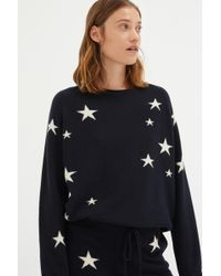 Chinti & Parker - Navy Slouchy Star Cashmere Sweater - Lyst