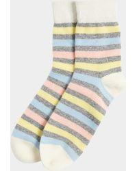 Chinti & Parker - Grey Colour Block Socks - Lyst