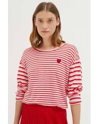Chinti & Parker - Pink Linen Isabel Long Sleeve T-shirt - Lyst