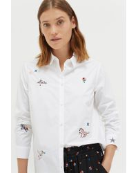Chinti & Parker - Embroidered Fitted Shirt - Lyst