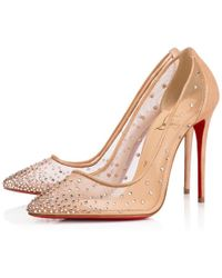 Christian Louboutin - Follies Strass Rete/suede Lame 100 Light Silk Strass - Lyst