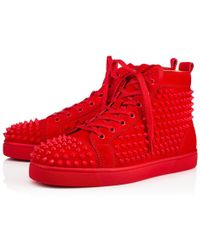 Christian Louboutin - Louis Spikes Men's Flat - Lyst