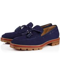 00fe20fc27d Christian Louboutin - Bad Ischl Veau Velours China Blue Veau Velours - Lyst