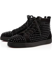 f48abad5096b Lyst - Christian Louboutin Louis Orlato Suede Sneakers in Black for Men