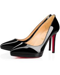 Christian Louboutin - Pigalle Plato Patent - Lyst