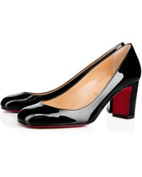 3914be88df Christian Louboutin Cadrilla 70 Patent Leather Block Heel Pumps in ...