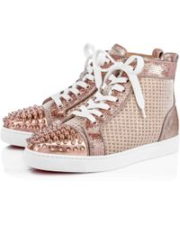 4f203d138880 ... coupon code for christian louboutin lou spikes woman orlato flat lyst  360e5 83394