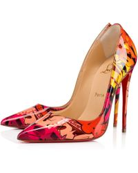 751505a62887 Lyst - Christian Louboutin So Kate Marbled Leather Pumps
